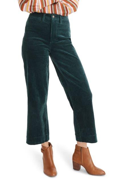 Madewell Pants SLIM EMMETT WIDE LEG CROP PANTS: CORDUROY EDITION