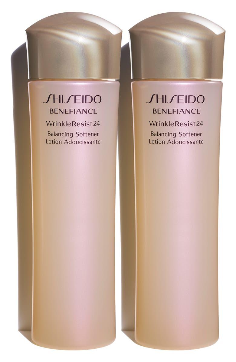 SHISEIDO Full Size Benefiance WrinkleResist24 Balancing Softener Duo, Main, color, NO COLOR