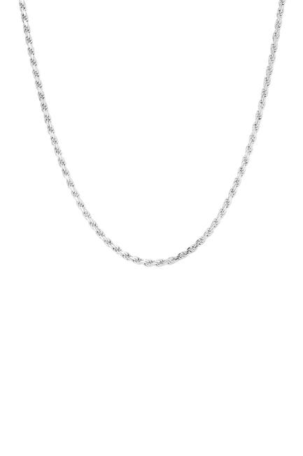 Image of Sphera Milano 14K White Gold Plated Sterling Silver Rope Chain Necklace