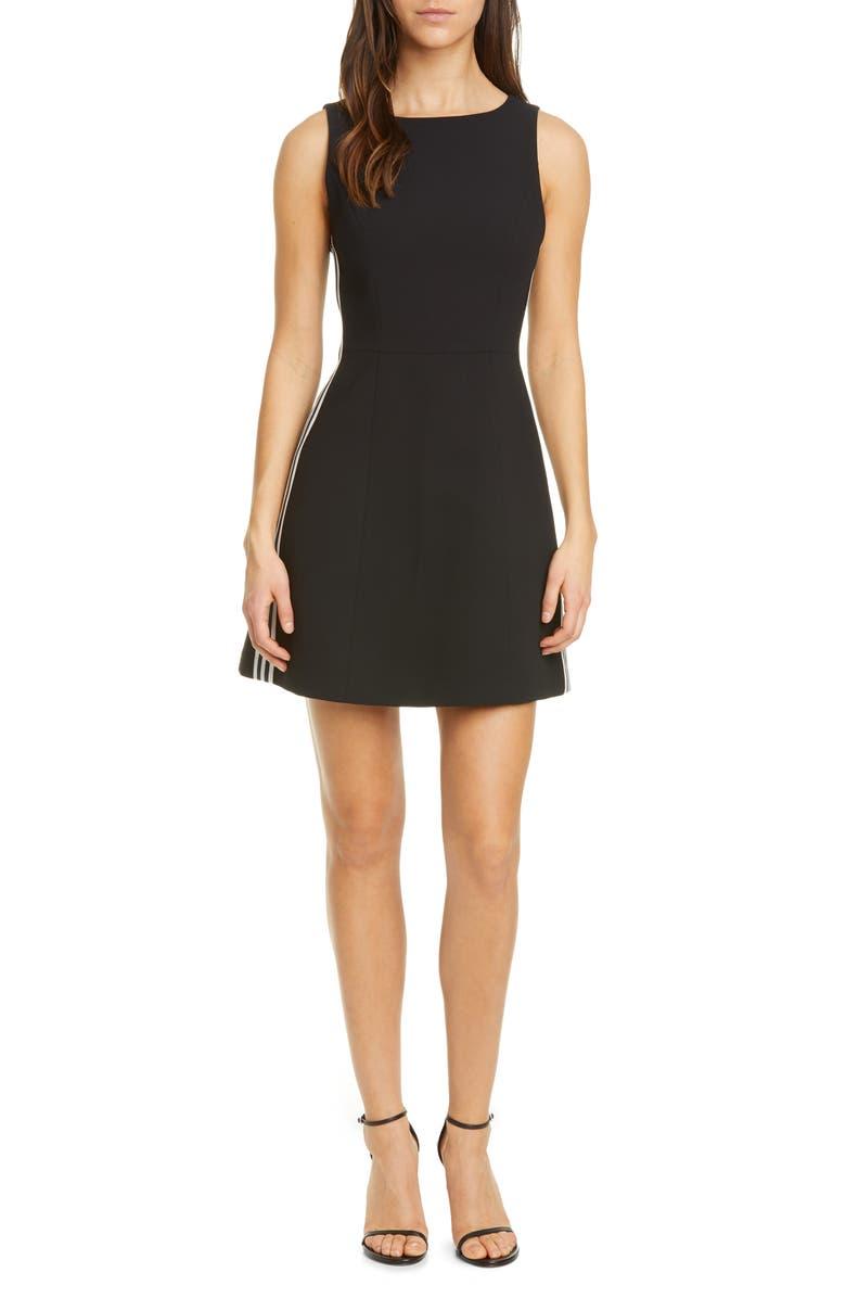 ALICE + OLIVIA Lindsey Structured Fit & Flare Dress, Main, color, 009