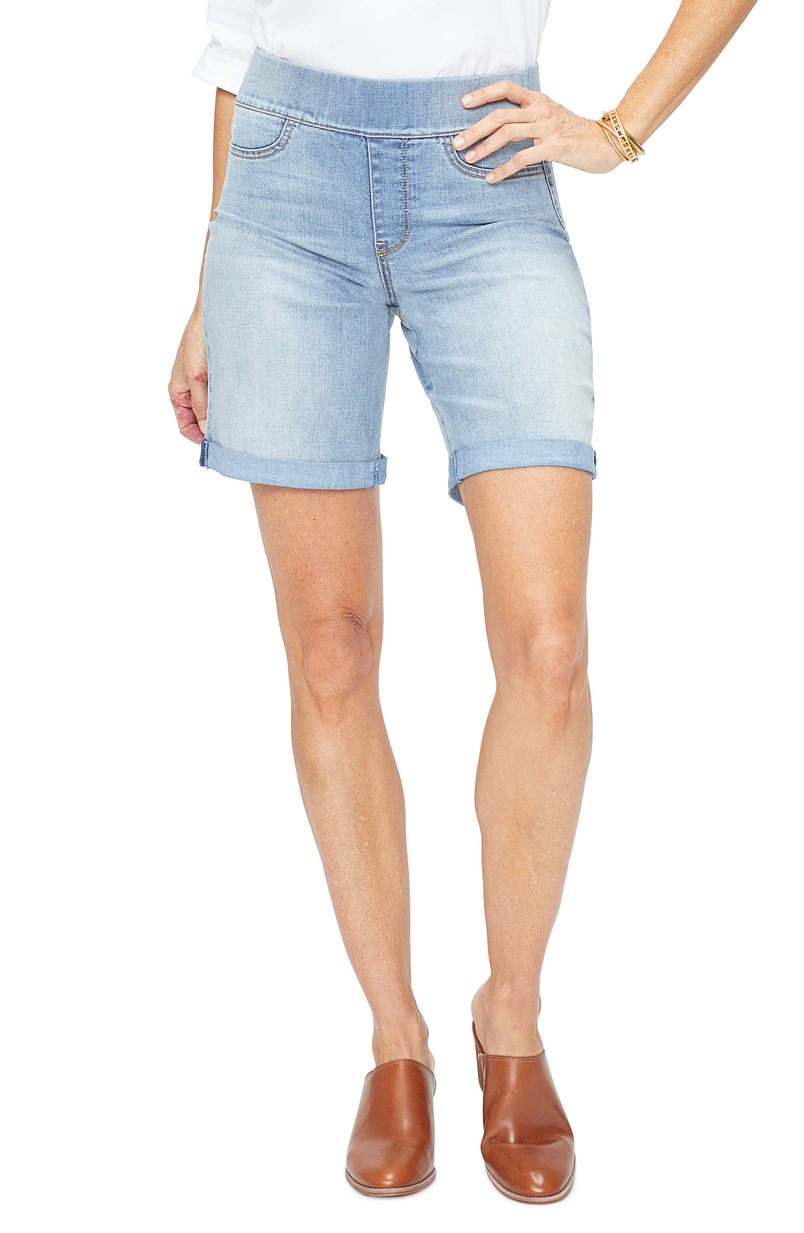 Image of NYDJ Pull On Roll Cuff Shorts