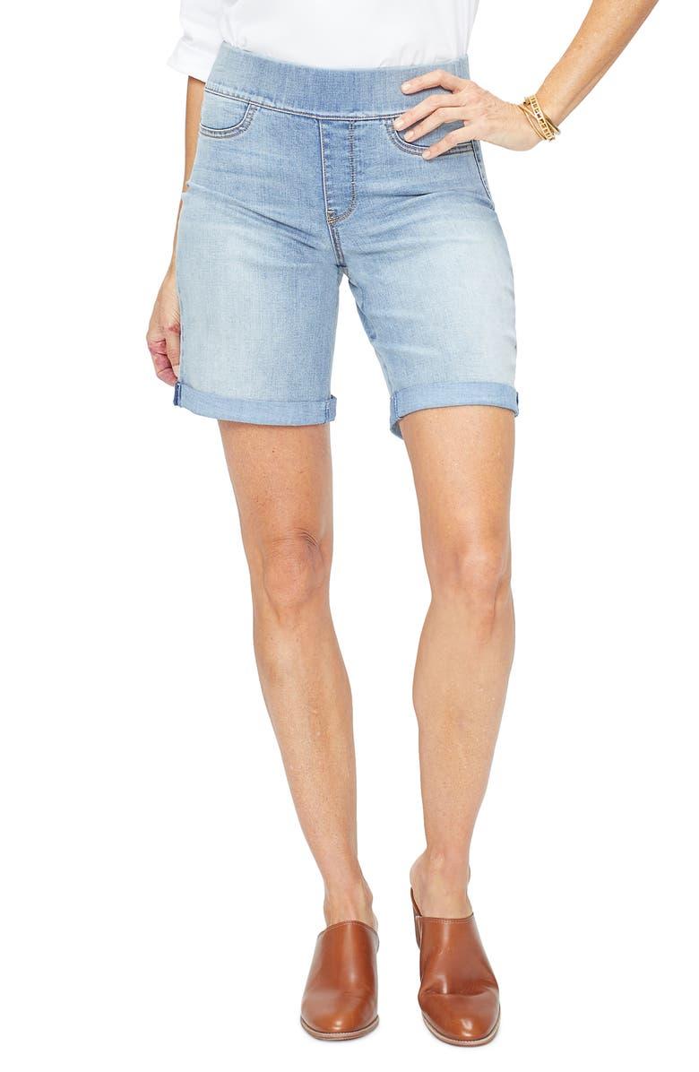 NYDJ Roll Cuff Pull-On Denim Shorts, Main, color, CANO