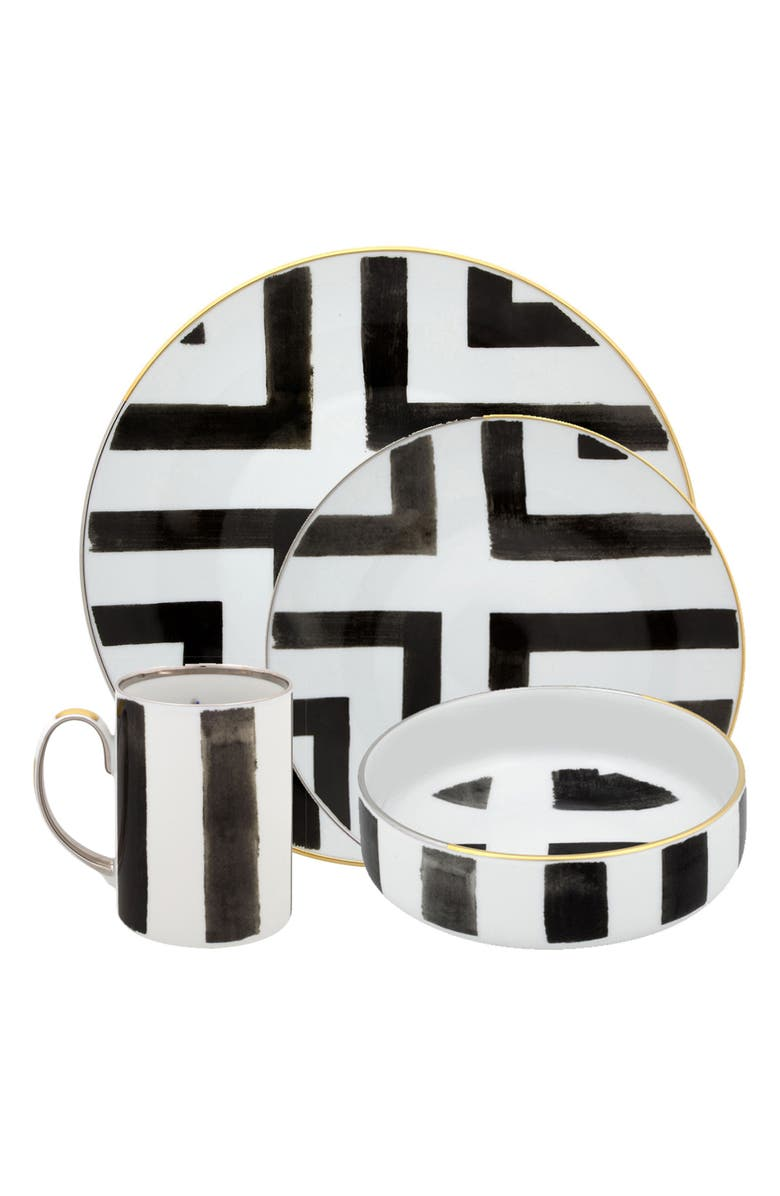 CHRISTIAN LACROIX Sol y Sombra 4-Piece Place Setting, Main, color, WHITE