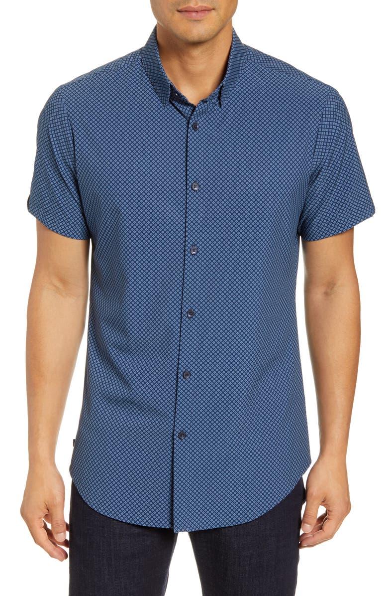 MIZZEN+MAIN Regular Fit Plaid Button-Up Shirt, Main, color, BLUE