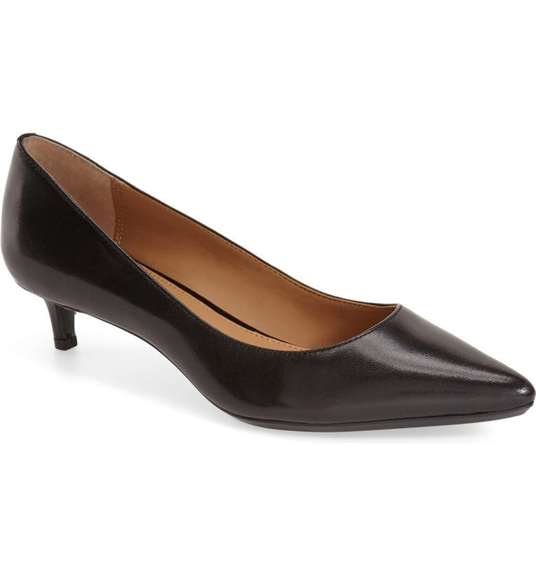 CALVIN KLEIN Gabrianna Pump, Main, color, BLACK LEATHER