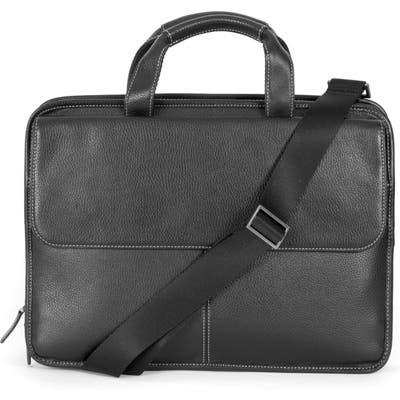 Boconi Tyler Leather Briefcase - Black