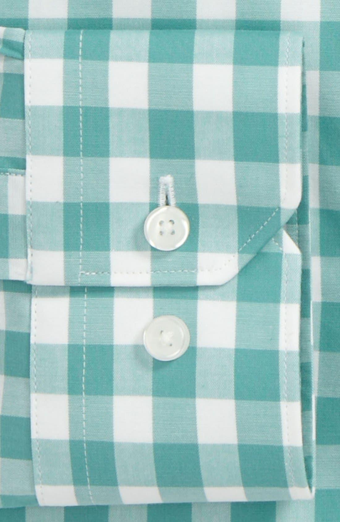 ,                             Slim Fit Non Iron Gingham Dress Shirt,                             Alternate thumbnail 10, color,                             300
