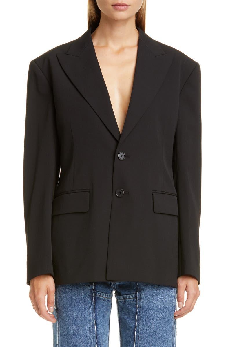 MAISON MARGIELA Confort Blazer, Main, color, BLACK
