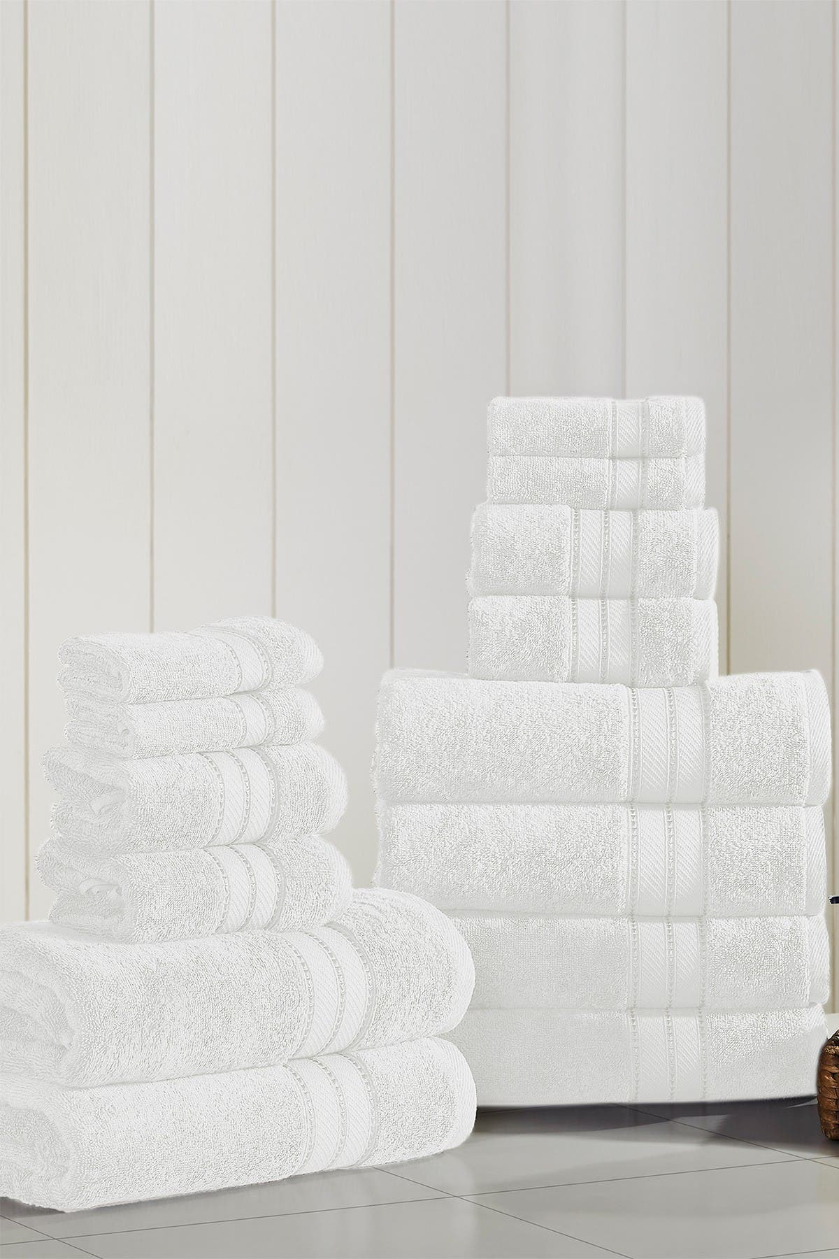 Image of Modern Threads SpunLoft 18-Piece Towel Set - White
