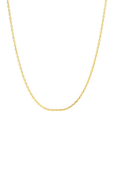 Image of Savvy Cie 18K Yellow Gold Vermeil Cable Chain Necklace