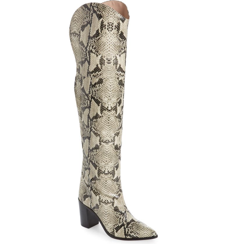 SCHUTZ Anaisha Pointed Toe Over the Knee Boot, Main, color, NATURAL