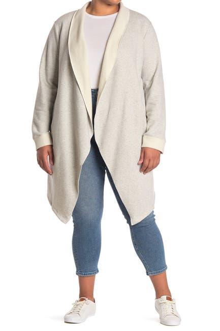 Image of MELLODAY Fleece Back Open Cardigan