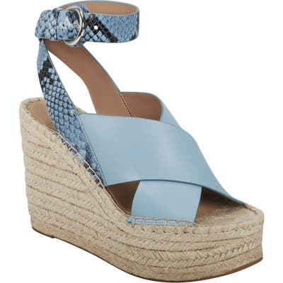 Marc Fisher Ltd Abacia Wedge Sandal- Blue