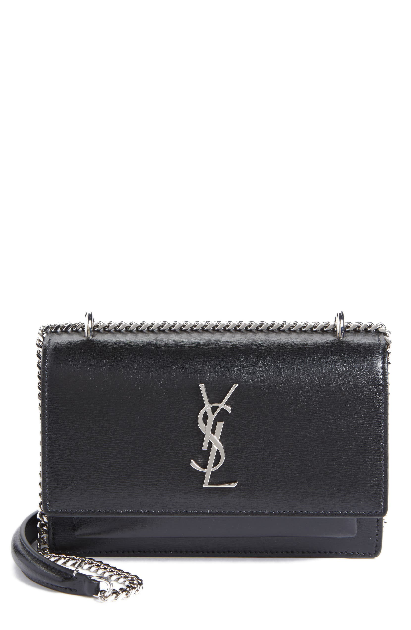 01d3966c965 Saint Laurent Sunset Leather Wallet on a Chain | Nordstrom