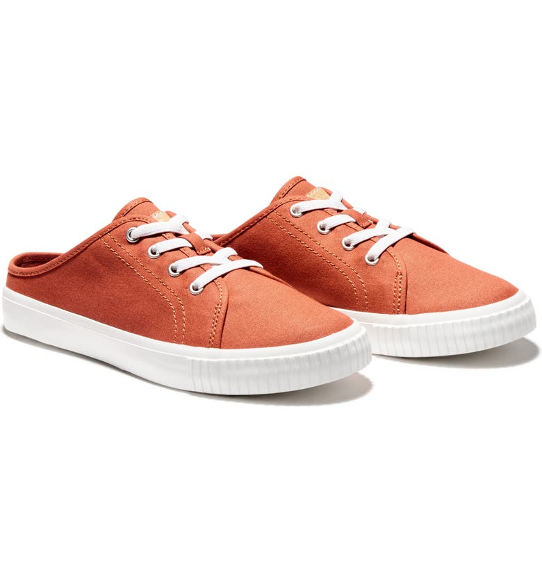 TIMBERLAND Skyla Bay Canvas Mule Sneaker, Main, color, LIGHT RED CANVAS