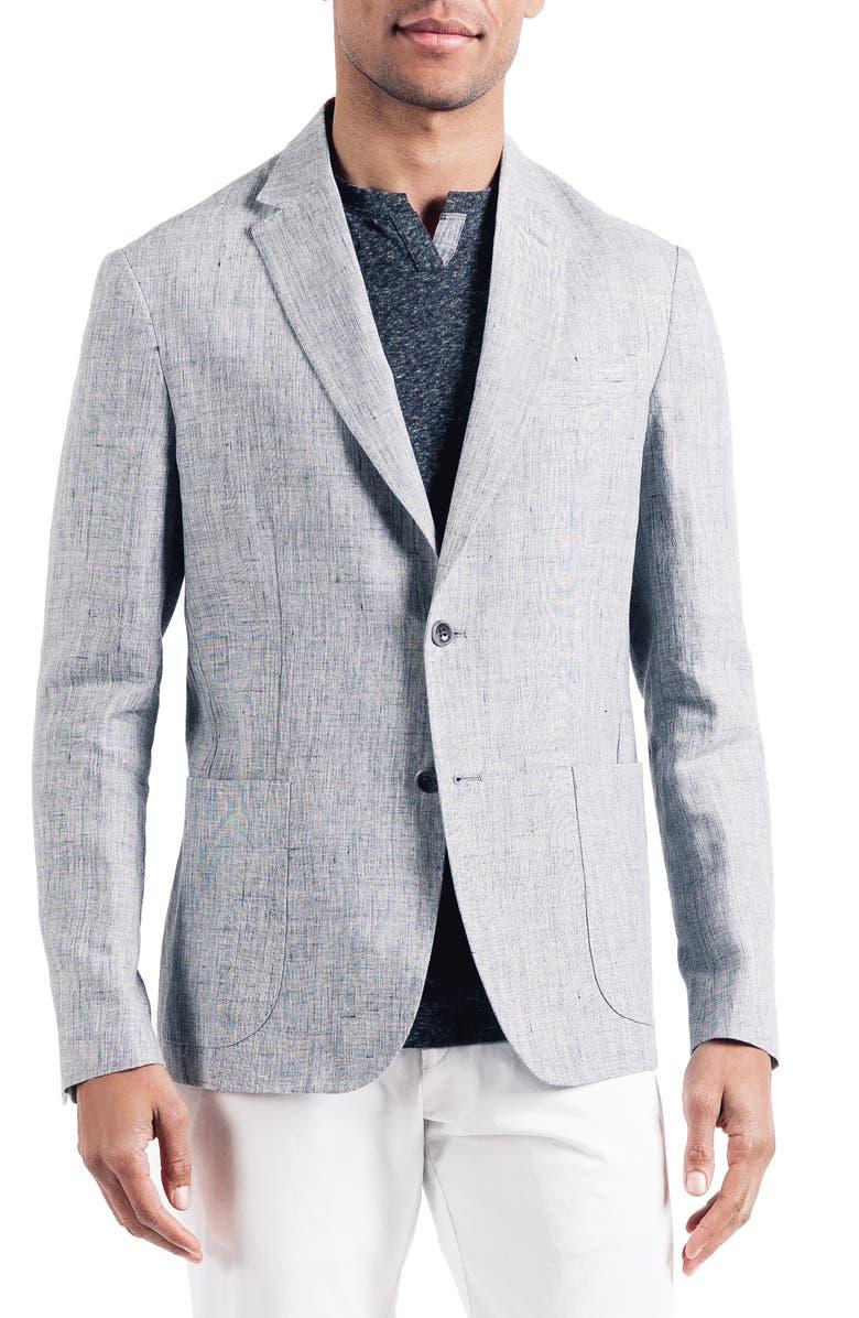 GOOD MAN BRAND Downtown Trim Fit Linen Sport Coat, Main, color, 042