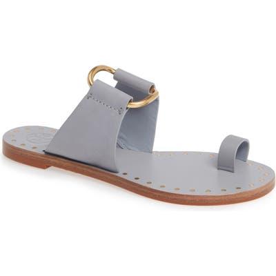 Tory Burch Ravello Toe Ring Sandal, Grey