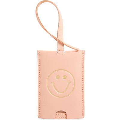 Madewell The Leather Luggage Tag - Coral