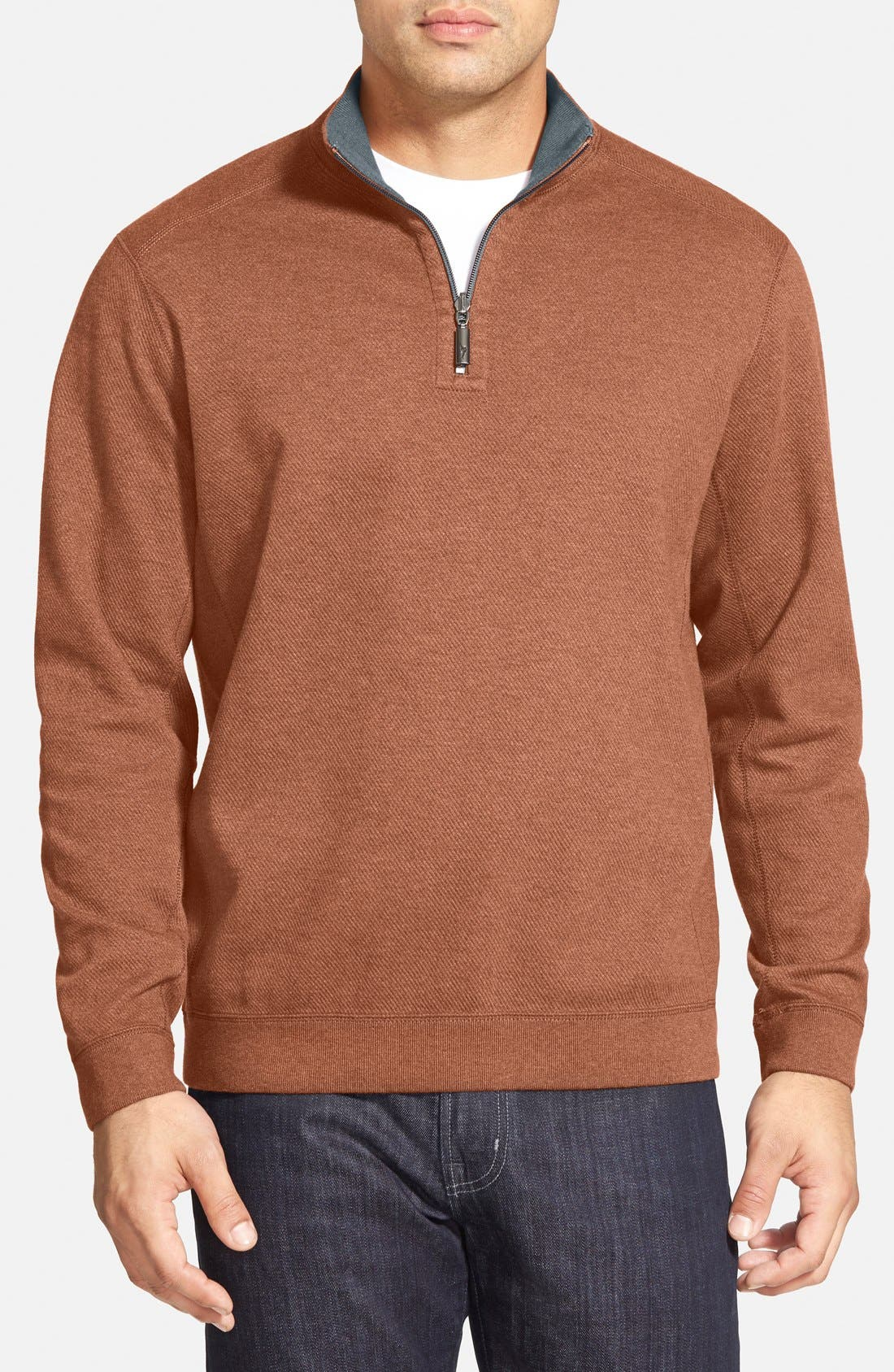 ,                             'Flip Side' Reversible Quarter Zip Pullover,                             Main thumbnail 101, color,                             605