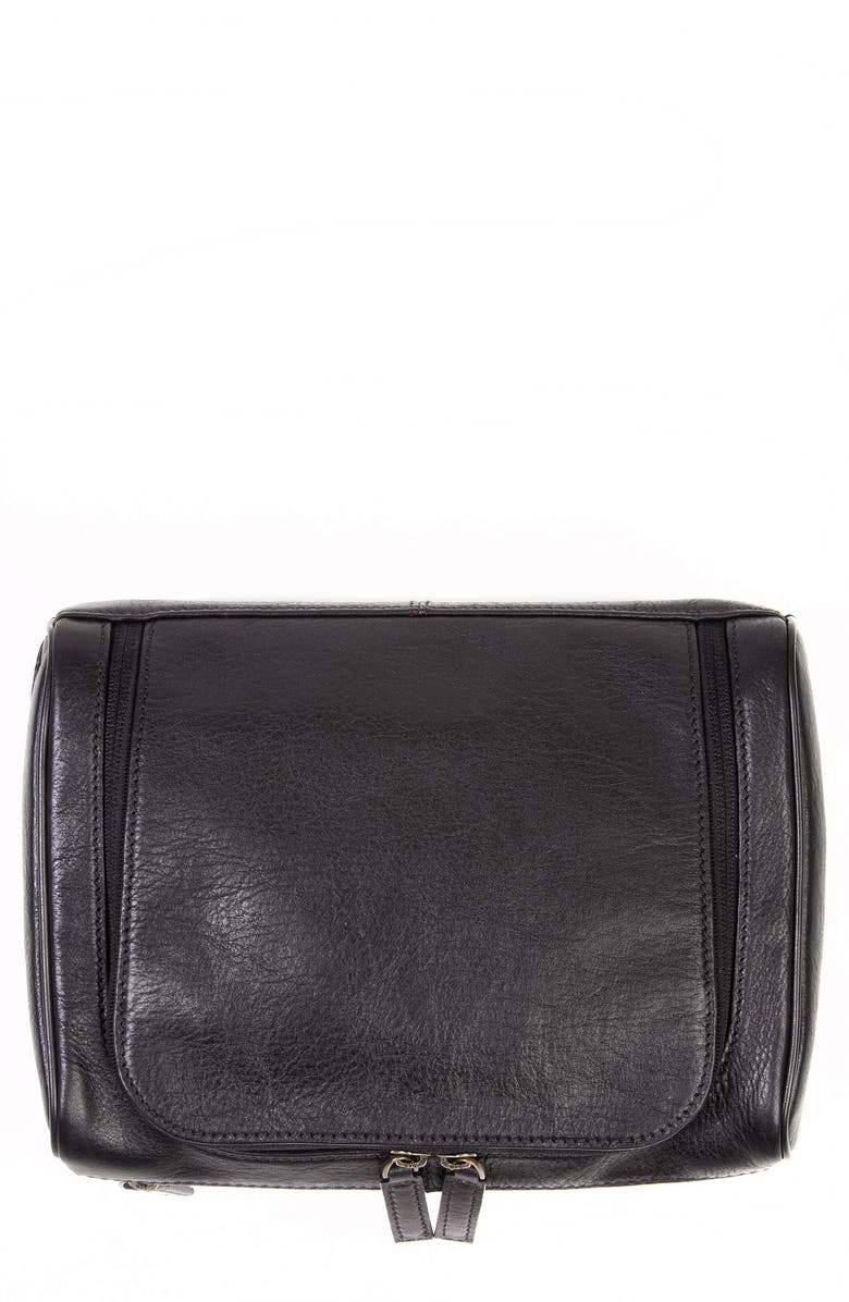 BOCONI Becker Leather Travel Kit, Main, color, 001