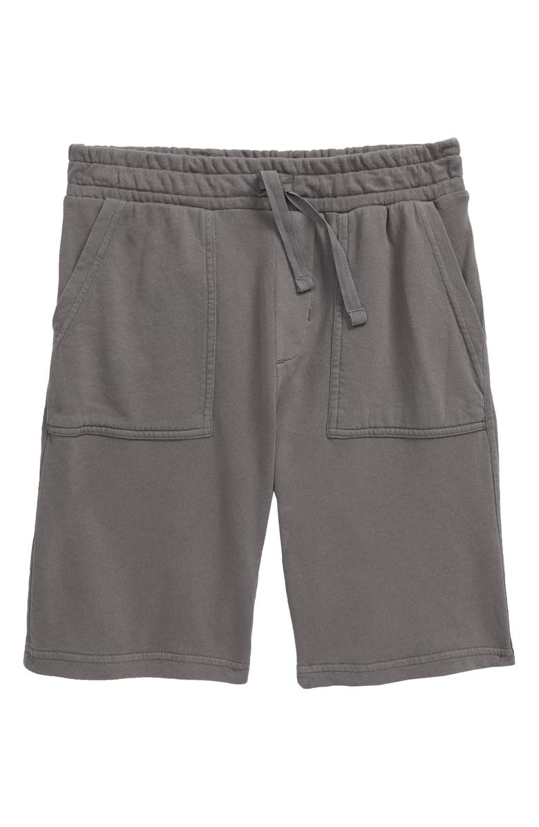 TUCKER + TATE Essential Fleece Shorts, Main, color, GREY CASTLEROCK