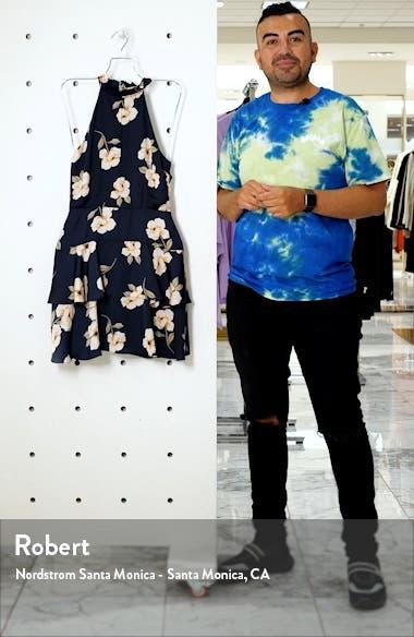 Gardenia Print Sleeveless Fit & Flare Dress, sales video thumbnail