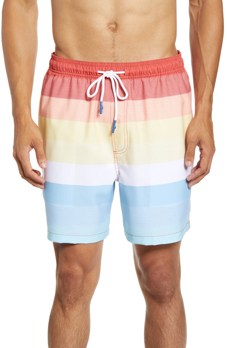 SOUTHERN TIDE Galley Swim Trunks, Main, color, VERMILLION RED