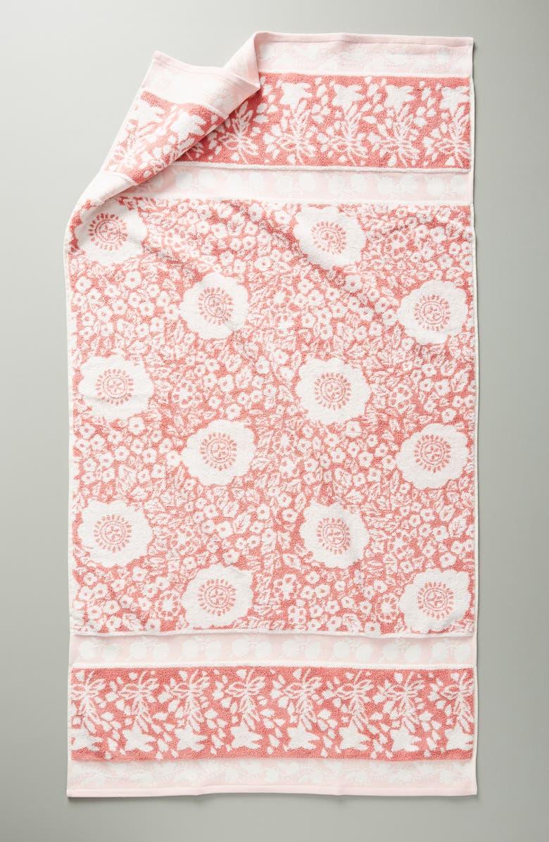 ANTHROPOLOGIE Lindie Bath Towel, Main, color, COOL