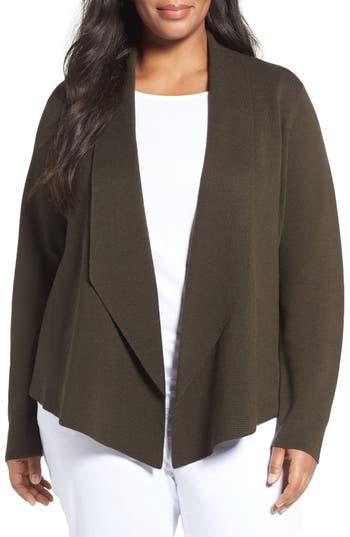 Eileen Fisher Silk & Organic Cotton Sweater Jacket (Plus Size)