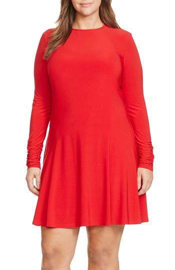 Lauren Ralph Lauren Fit & Flare Dress (Plus Size)