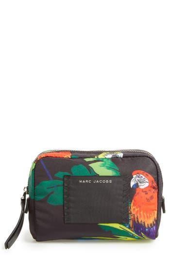 MARC JACOBS B.Y.O.T. Parrot Print Small Cosmetics Bag