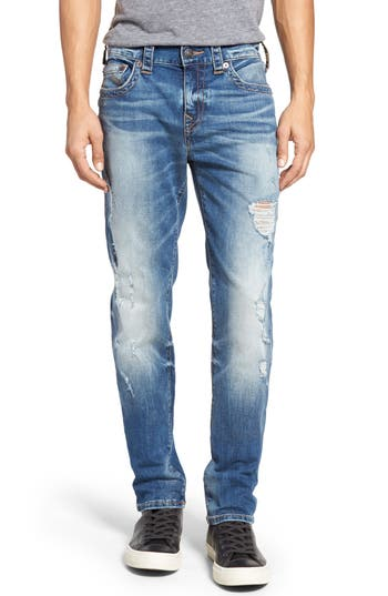 True Religion Brand Jeans Rocco Skinny Fit Jeans (DQFM Worn Rebellion) (Regular & Big)