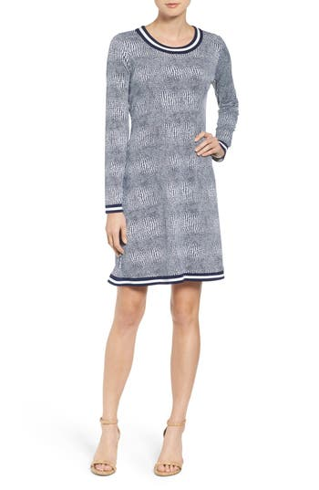 MICHAEL Michael Kors Zephyr Contrast Border Fit & Flare Dress