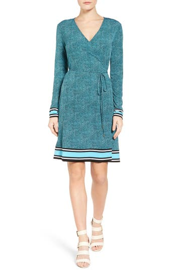 MICHAEL Michael Kors Stingray Border Print Wrap Dress (Regular & Petite)