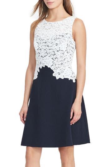 Lauren Ralph Lauren Fit & Flare Dress (Regular & Petite)