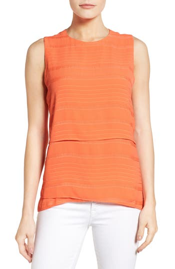 Chaus Crinkle Woven Sleeveless Blouse