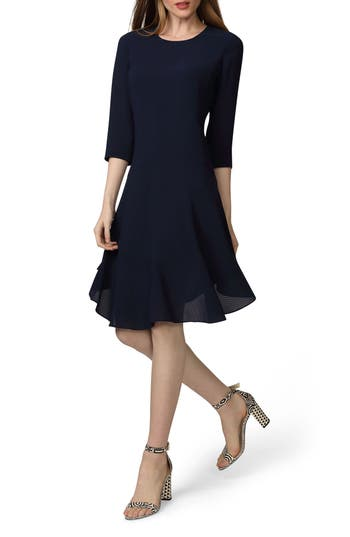 Donna Morgan Crepe Fit & Flare Dress (Regular & Petite)