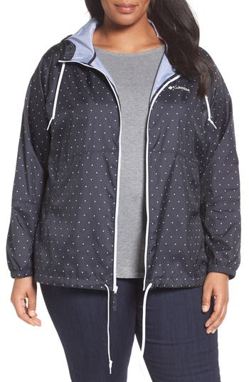 Columbia Flash Forward Print Hooded Jacket (Plus Size)