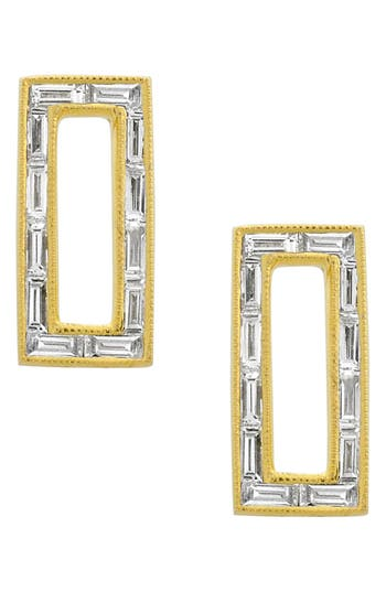 Bony Levy Baguette Diamond Rectangle Stud Earrings (Nordstrom Exclusive)