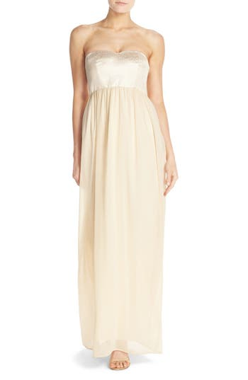 Paper Crown by Lauren Conrad 'Breanna' Lace Bodice Crepe Gown