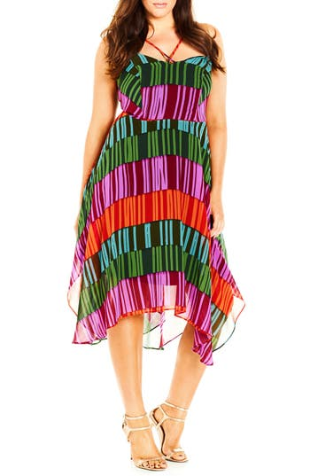City Chic 'Floating Fever' Dress (Plus Size)