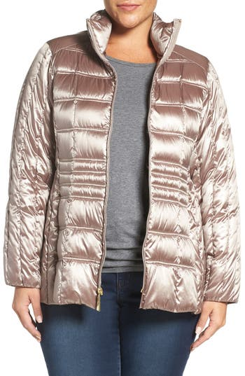 Ellen Tracy Water Repellent Quilted Jacket (Plus Size)