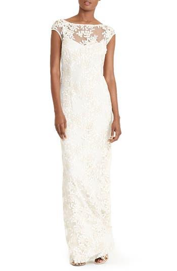 Lauren Ralph Lauren Floral Mesh Gown