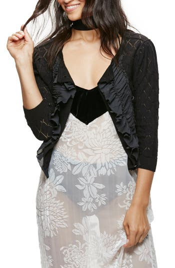 Free People Tiny Dancer Ruffle Cardigan