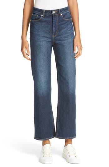 La Vie Rebecca Taylor Anais Wide Leg Crop Jeans (Dark Ink)