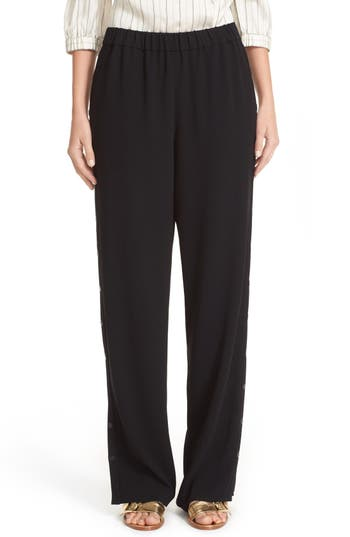 Tibi Side Snap Wide Leg Pants