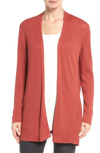 Eileen Fisher Ribbed Silk & Organic Cotton Cardigan
