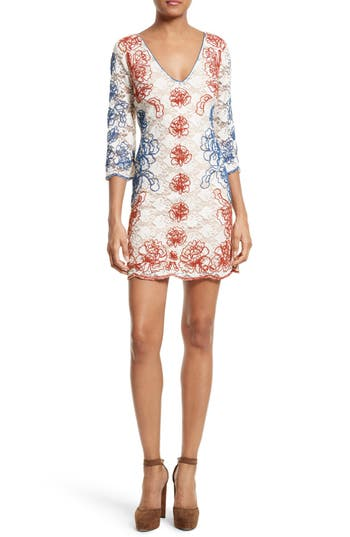 Tracy Reese Embroidered Lace Minidress