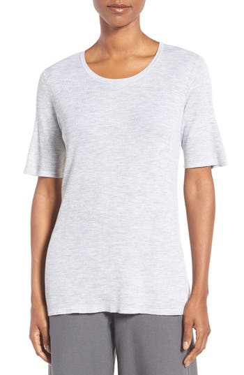 Eileen Fisher Featherweight Ribbed Merino Shell
