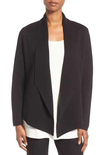 Eileen Fisher Silk & Organic Cotton Sweater Jacket (Regular & Petite)